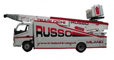 Elevatore / scala per traslochi City Truck ASA 39 – 44 – 51 WHM su Mitsubishi Canter / Mercedes